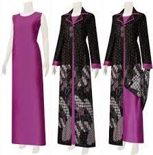 Model baju batik haifa jubah terbaru