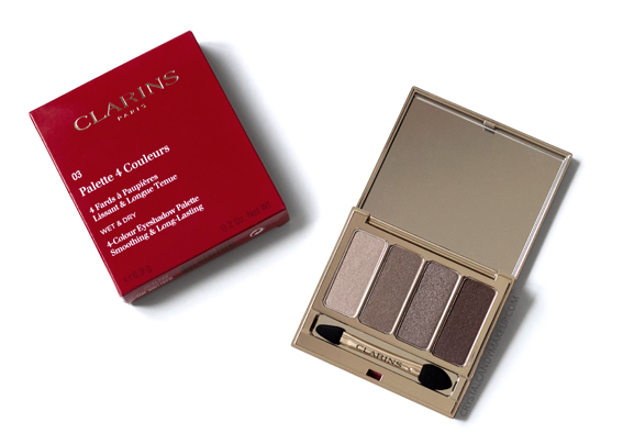 Clarins 4-Colour Eyeshadow Palette Fall 2016 03 Brown Review Photos
