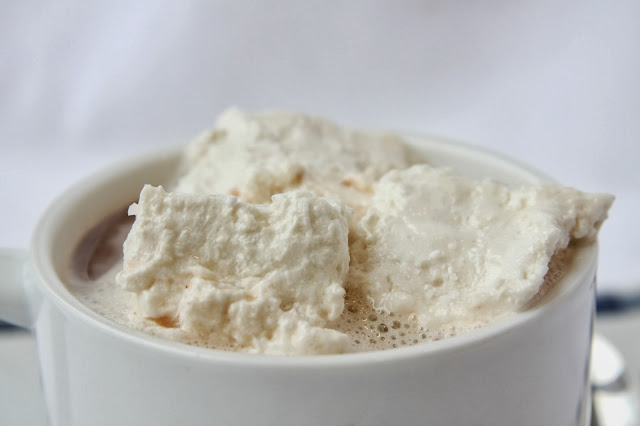 Homemade Marshmallows are a healthy, delicious alternative to packaged marshmallows.  You can flavor them, coat them, or toss them into hot chocolate!