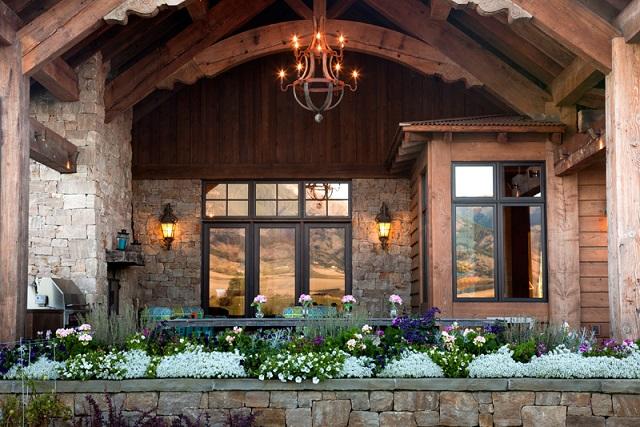 Estilo rustico casa de piedra y madera for Casas de piedra y madera