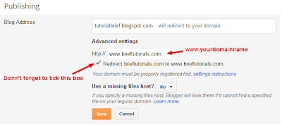 configure bigrock domain on blogger