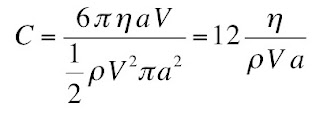 An equation giving the drag coefficient during low Reynolds number flow around a sphere.