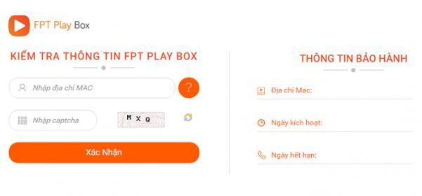 chế độ bảo hành fpt play box