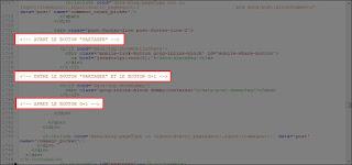 Emplacements plausible pour ajouter un code XML dans la barre de partage de la version mobile personnalisée