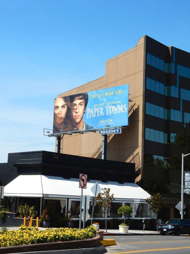 Daily Billboard Paper Towns Movie Billboard