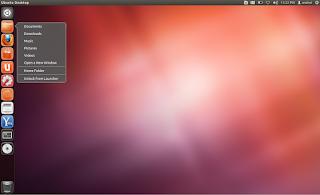 Ubuntu desktop unity DE