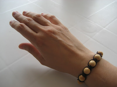 Pulsera de macramé y cuentas/ beaded wrap bracelet / bracelet macrame