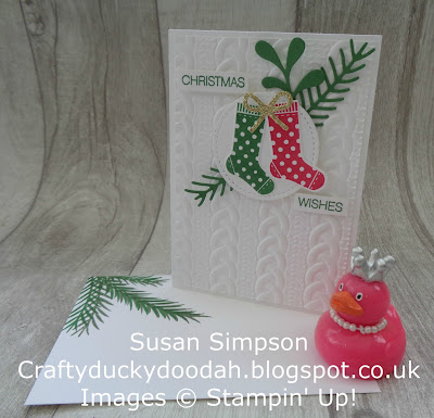 Stampin' Up! UK Independent  Demonstrator Susan Simpson, Craftyduckydoodah!, Hany Your Stocking, Christmas Pines, September 2017 Coffee & Cards Project, Supplies available 24/7 from my online store,