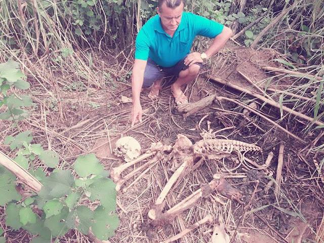 Ossada humana e cadáver são encontrados na zona rural de Vista Alegre