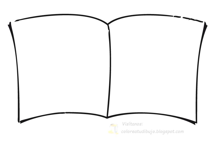 Dibujos Para Colorear De Libro Y Libreta: COLOREA TUS DIBUJOS: Marco De Libro / Cuaderno Para