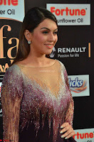 Hansika Motwani in Glittering Deep Neck Transparent Leg Split Purple Gown at IIFA Utsavam Awards 003.JPG