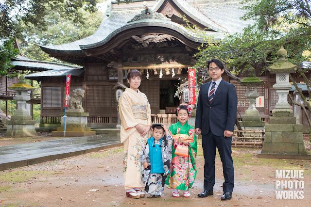 福井県三国神社で七五三撮影