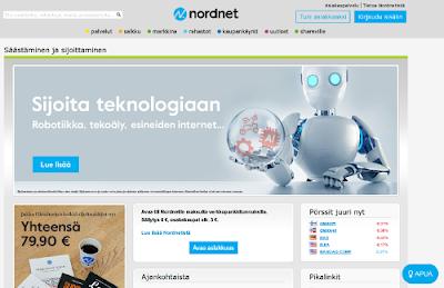 Kokemuksia Nordnet -sijoituspankista