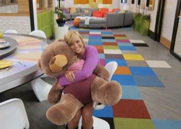 Kara with Tiny Shags teddy bear