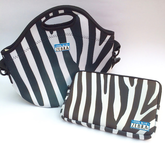 cool blue zebra cool bag and pouch