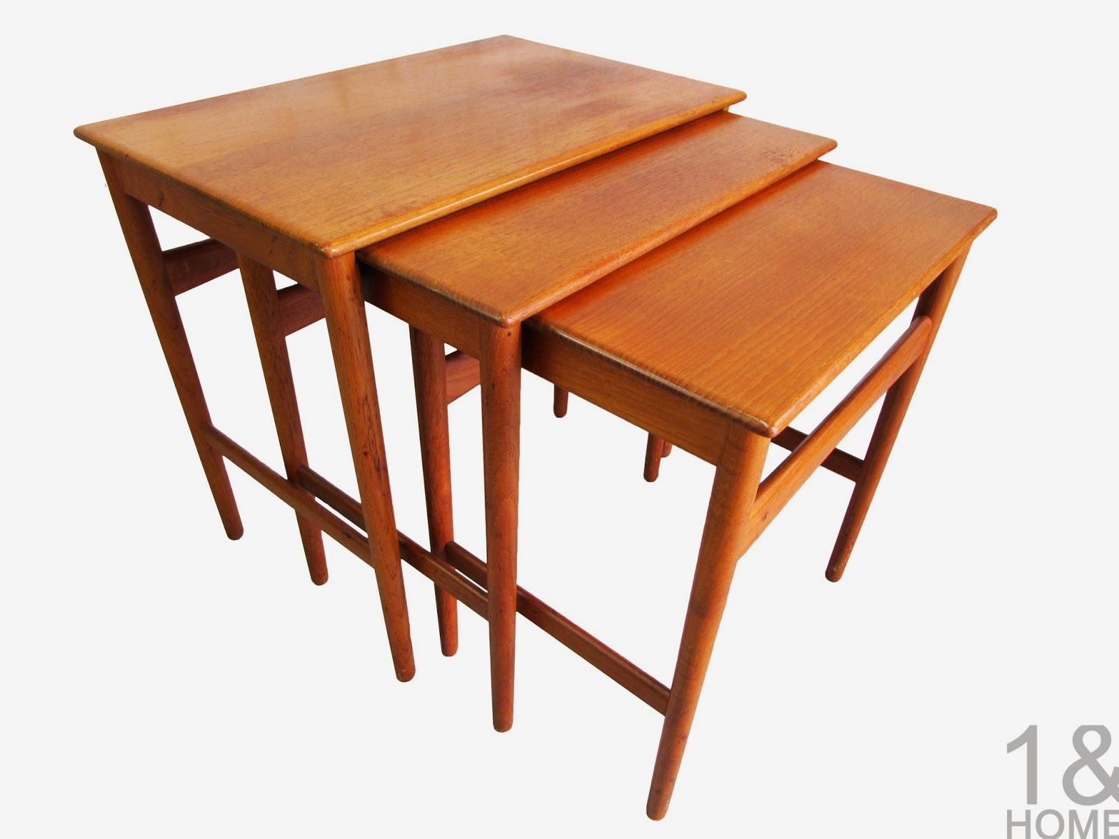 Hans Wegner for Andreas Tuck Teak Nesting Tables Danish Modern
