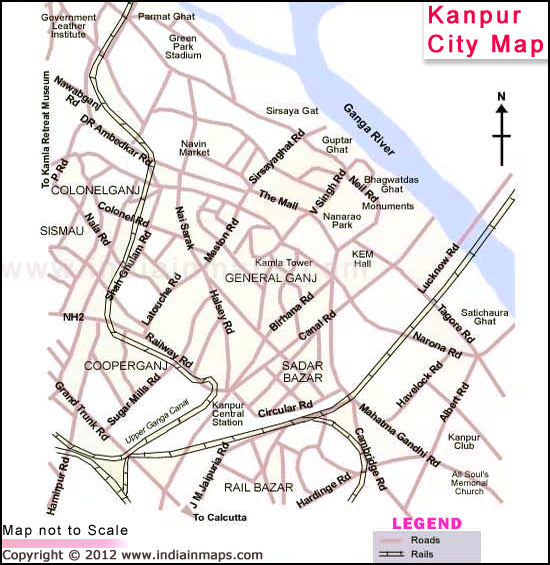 Kanpur City Map India In Maps