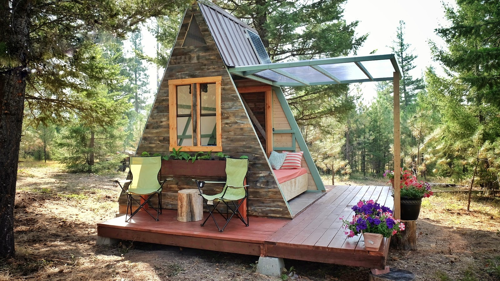 Tiny house town a frame cabin that cost just 700 to build for A frame cost