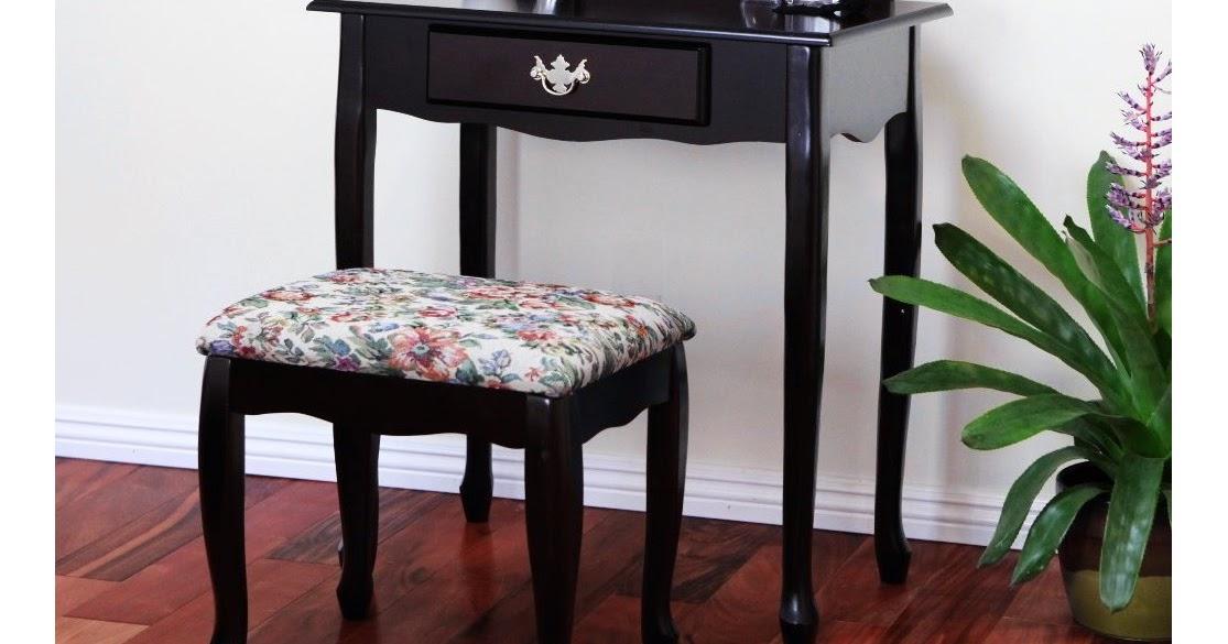 Vanity Tables With Oval Mirror Cherry Finish Vanity Set