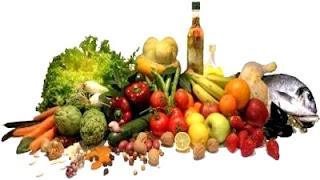 Imagen de diversos alimentos que contienen vitaminas