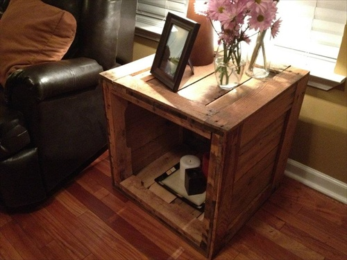 Uses Of Pallet End Table Furniture Plans