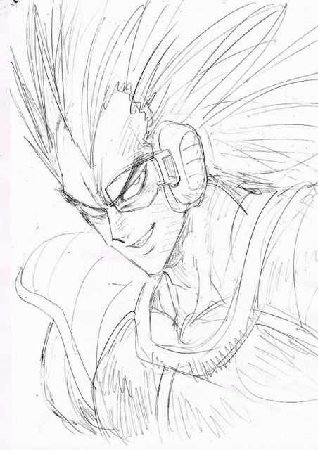 Sketsa Raditz Dragon Ball