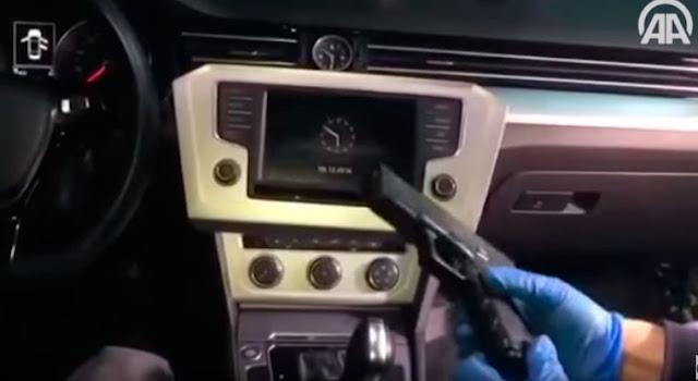VIDEO Así es el escondite de un narco en su carro