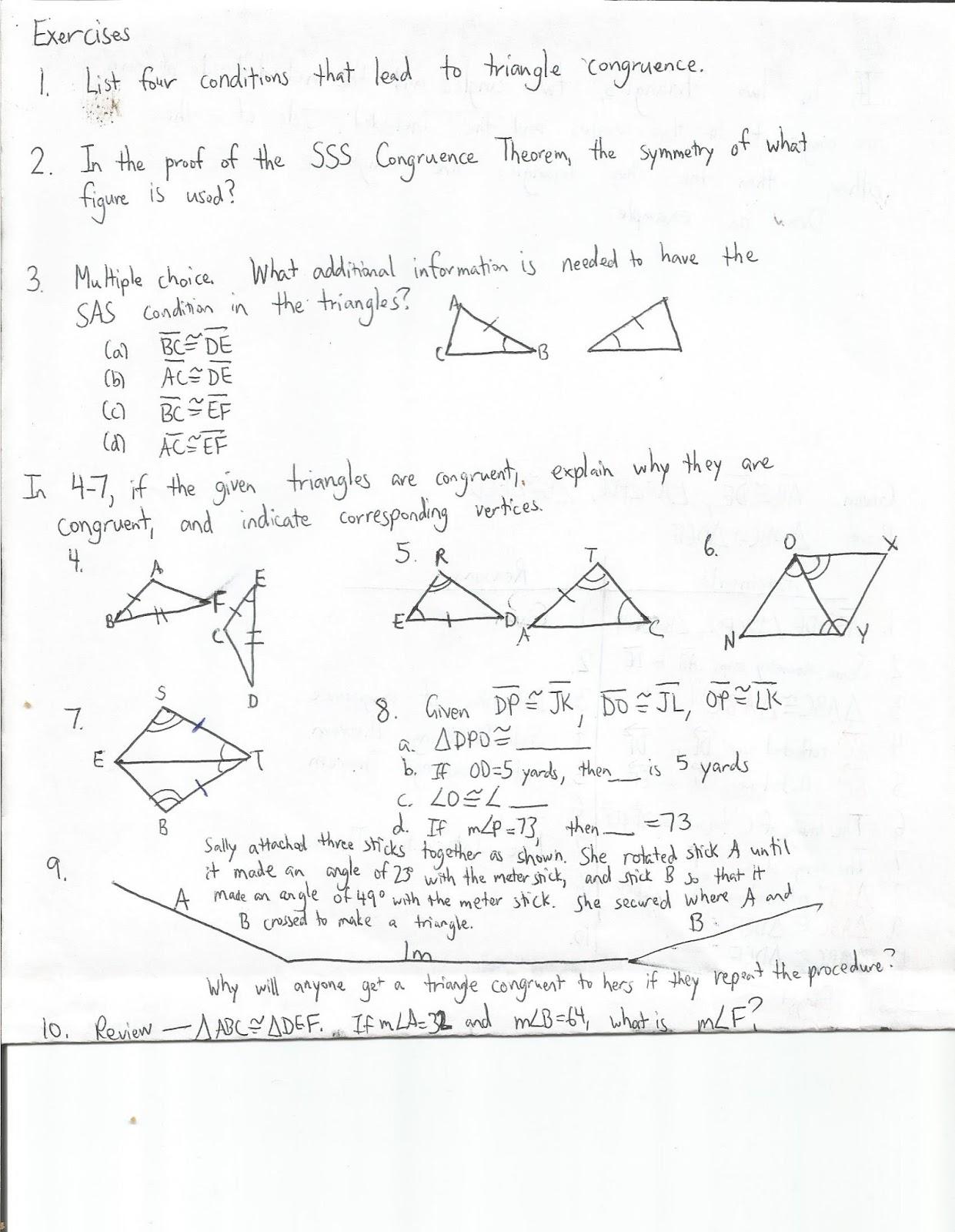 Reflection Notation Geometry Worksheet