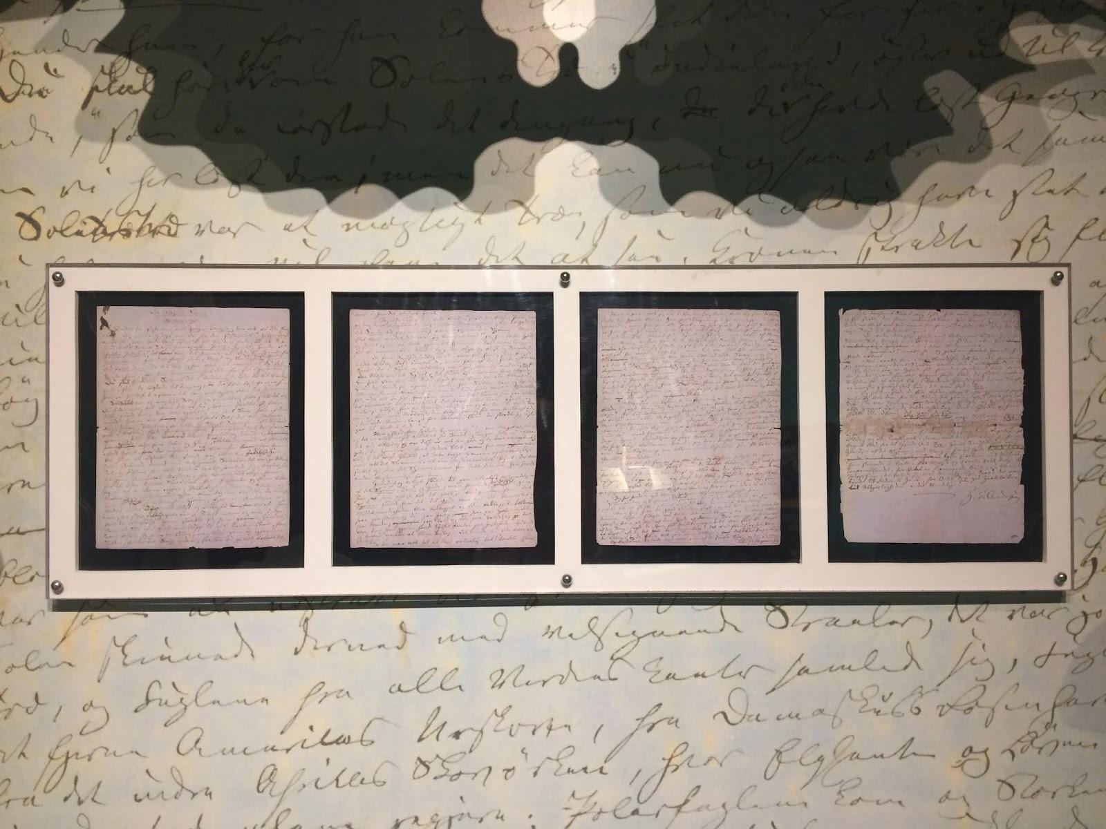 Handwritten story by Hans Christian Andersen