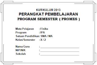 Program semester fisika SMA kelas X, XI, XII
