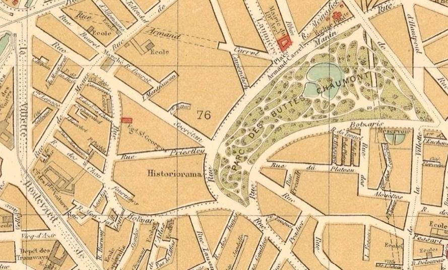 Carte Buttes Chaumont.Les Plans Du Quartier De La Butte Chaumont A Travers Les Ages