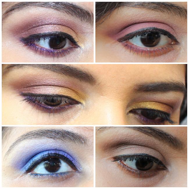 Eye makeup looks with Kat von D Metal Matte Eyeshadow Palette
