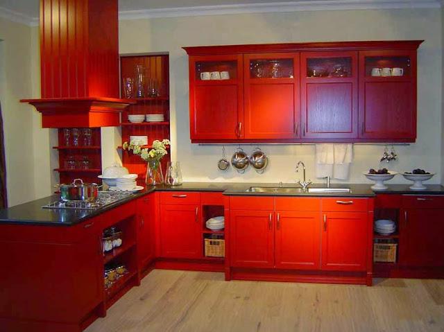 warna merah untuk dapur terbaru