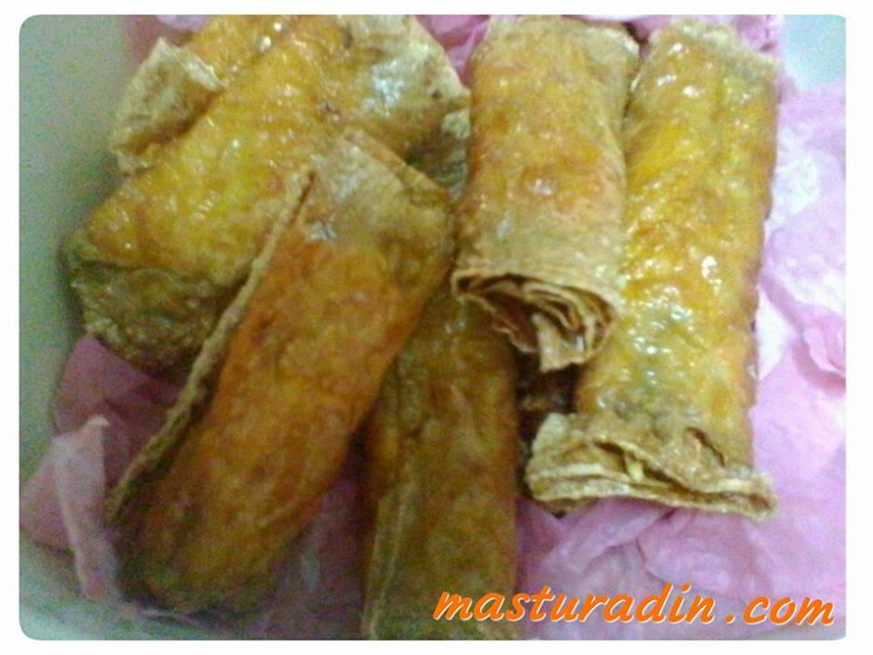 fucuk goreng berinti, resepi menggunakan fucuk, tauhu kering, bahan dalam yong tau fu