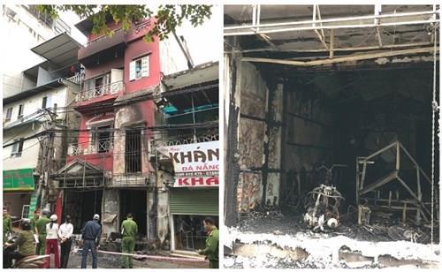 Hà Nội: Cháy nhà 4 tầng, 2 người phải nhập viện