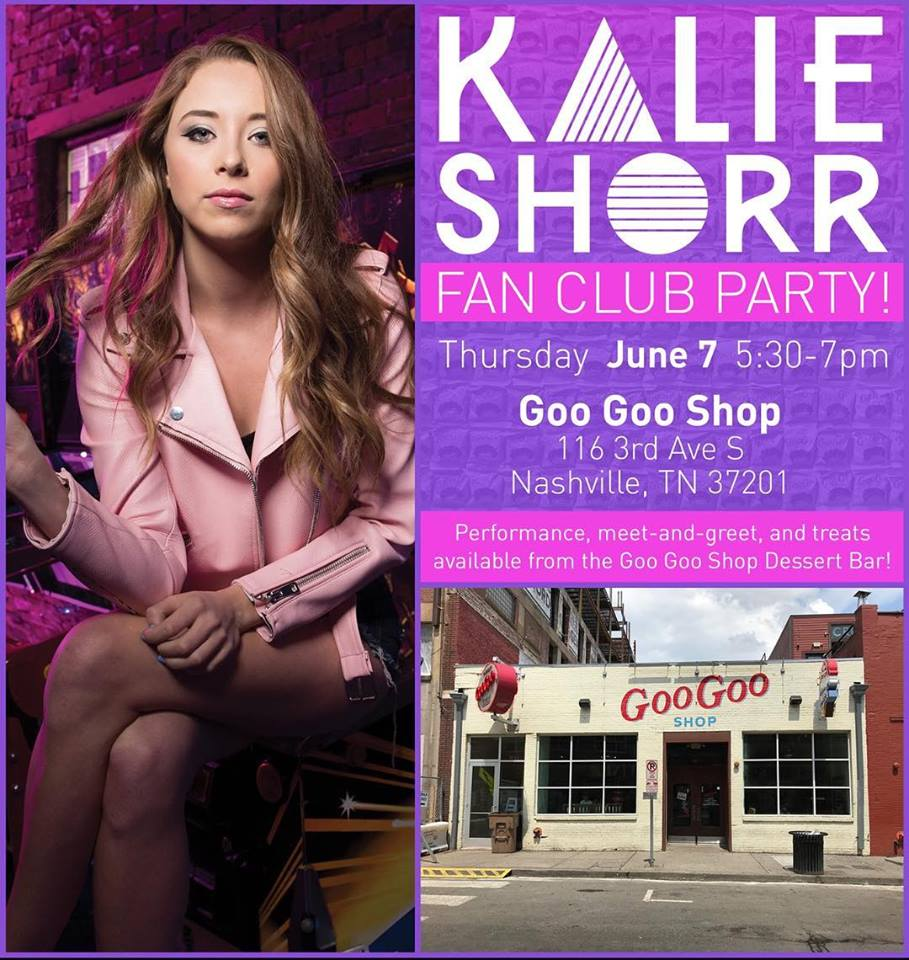 Kalie Shorr To Host Fan Party During Cmafest 2018 Cma Fest