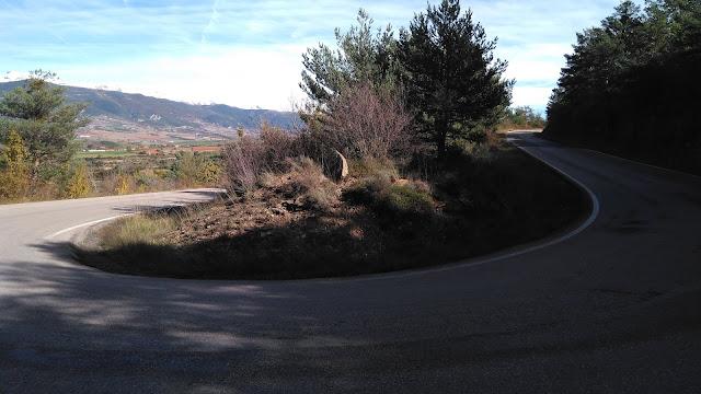 Curva de herradura en Oroel en los primeros kilómetros