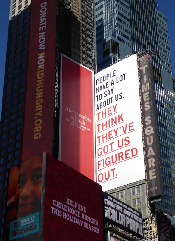 Abercrombie Fitch think they've got us figured out billboard Times Square