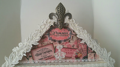 DT project for Tsunami Rose Designs : Shabby Chic Shadowbox