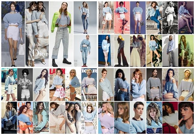 2016 Dior寧靜藍露肚短毛衣 撞衫
