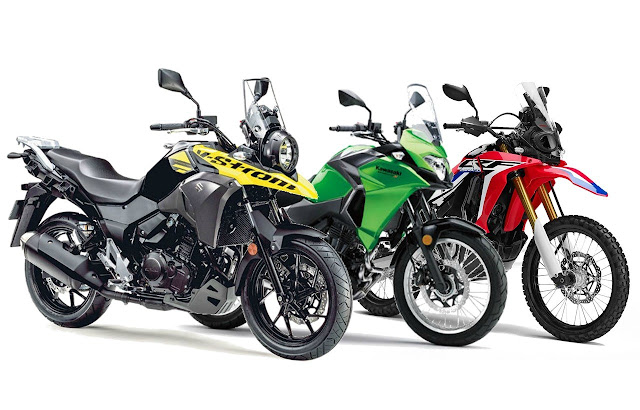 Komparasi Versys X250 vs CRF 250 Rally vs V-Strom 250, pilih mana?