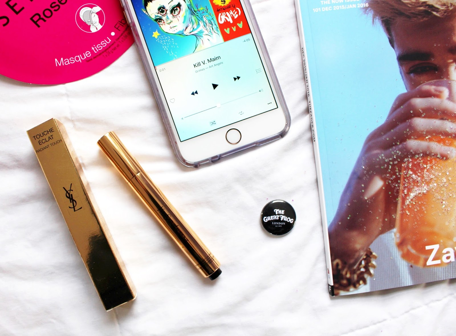 ysl touche eclat radiant touch, zayn malik the fader, grimes art angels