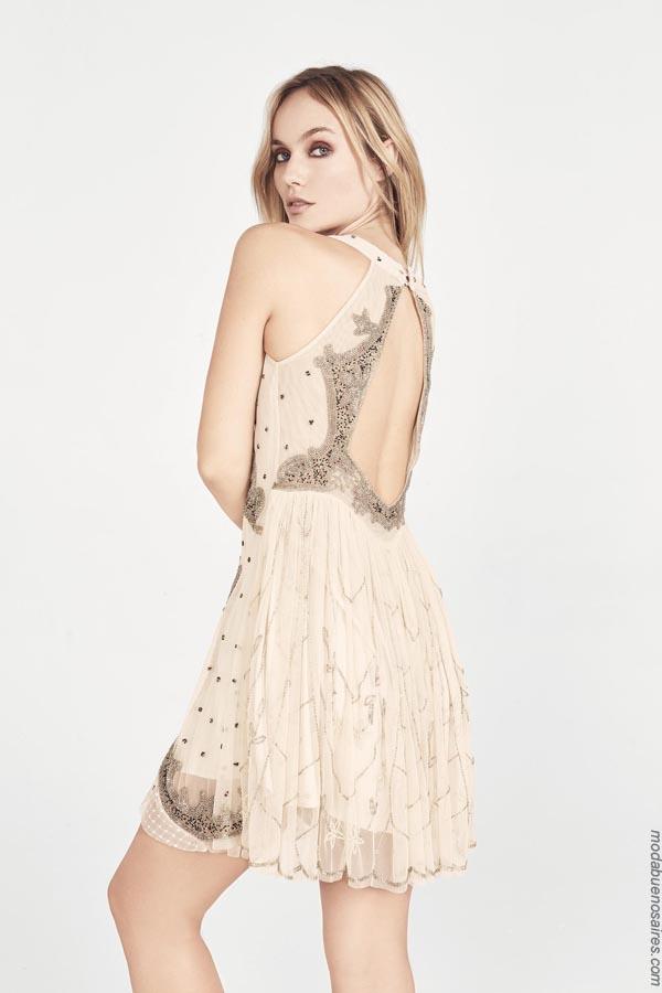 Moda primavera verano 2019 vestidos.