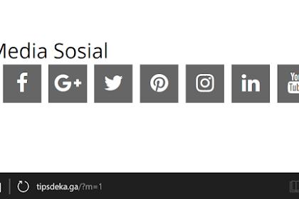 Memasang Widget Social Media