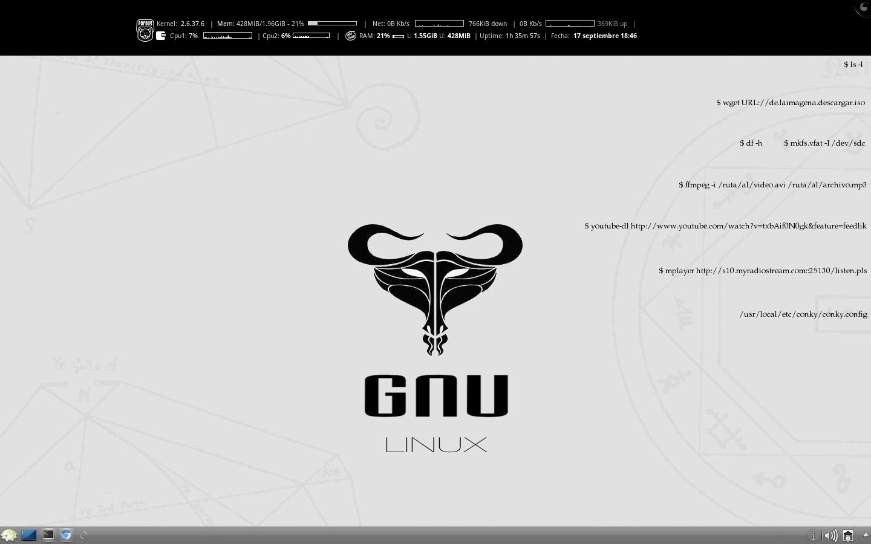Usando Mi Gnu Linux Tomas De Pantalla Screenshots Para