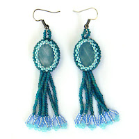Купить украшения ручной работы с аквамарином, серьги, сережки, бохо