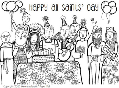 Paper Dali All Saints Day Coloring Page Printable St S Day Coloring Pages For Adults