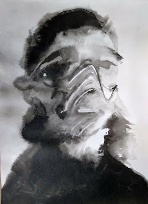 retrato tinta china Benjamin Vilella Ines