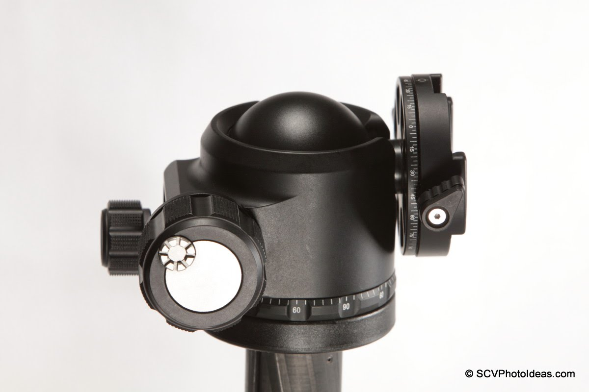 Sunwayfoto DDH-02 on Sunwayfoto XB-44 LP ball head - tilted