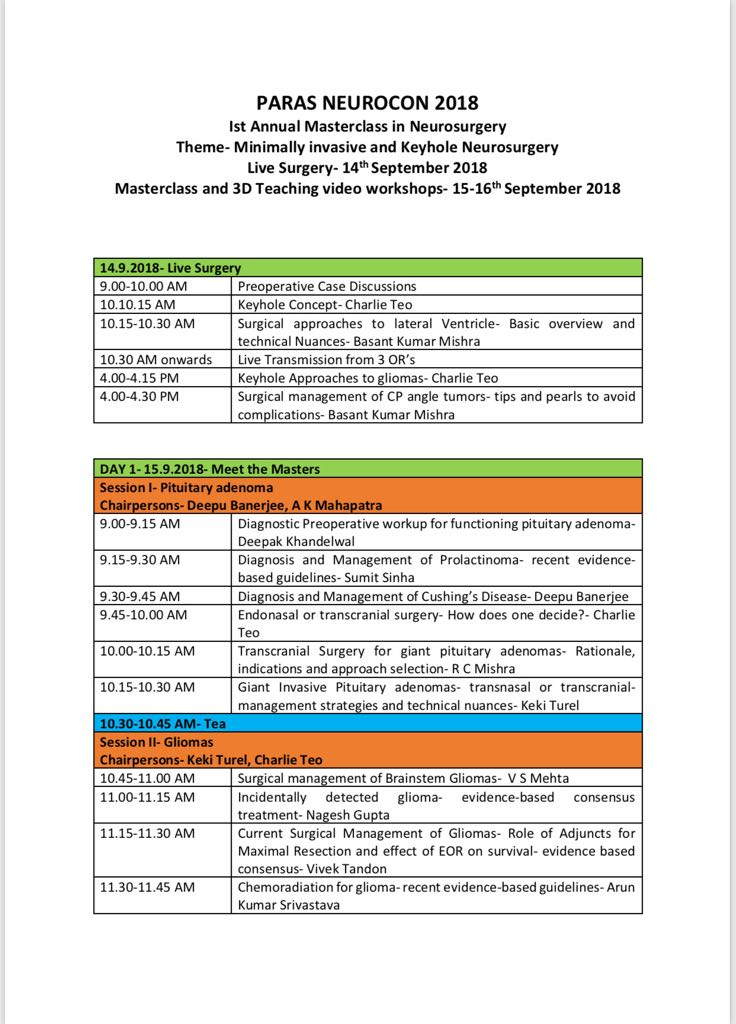 Neurosurgery Conference